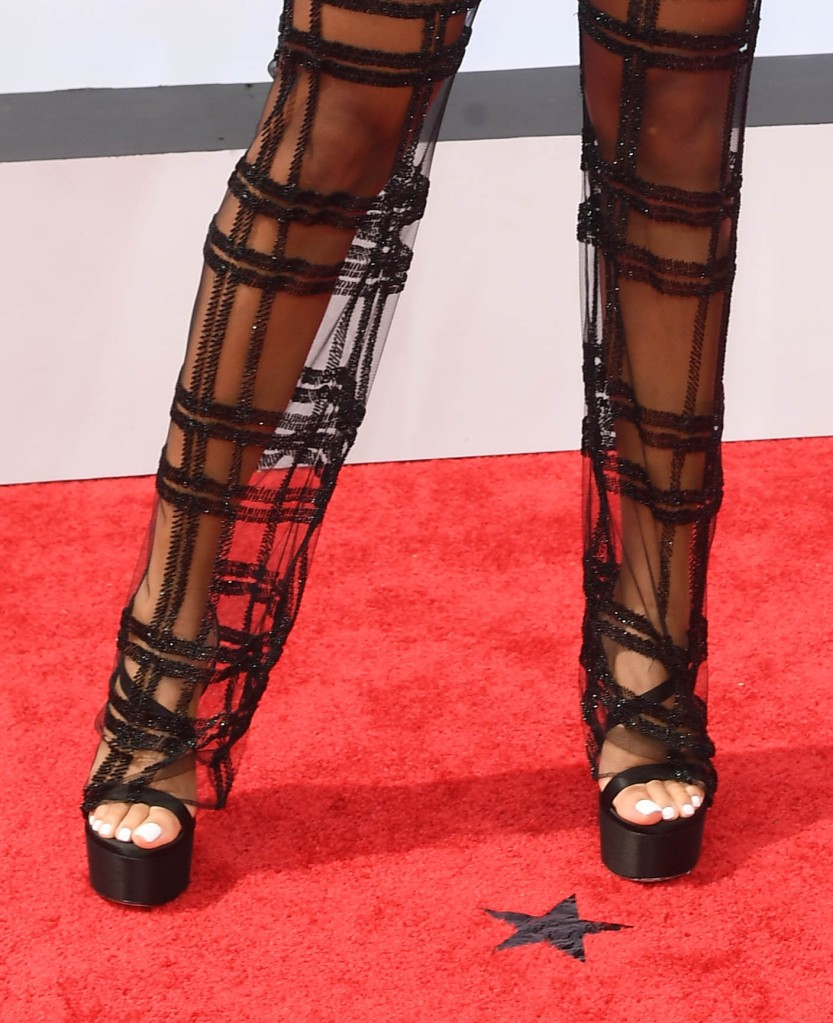 H.E.R. attends the 21st BET Awards at L.A. Live on June 27, 2021 in Los Angeles, shoes