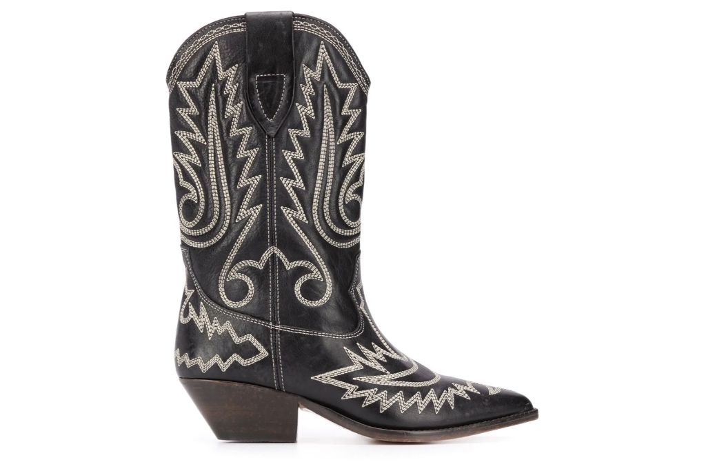 isabel marant, duerto ankle boot, cowboy boot
