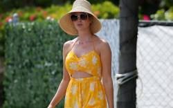 Ivanka Trump wears a yellow cutout