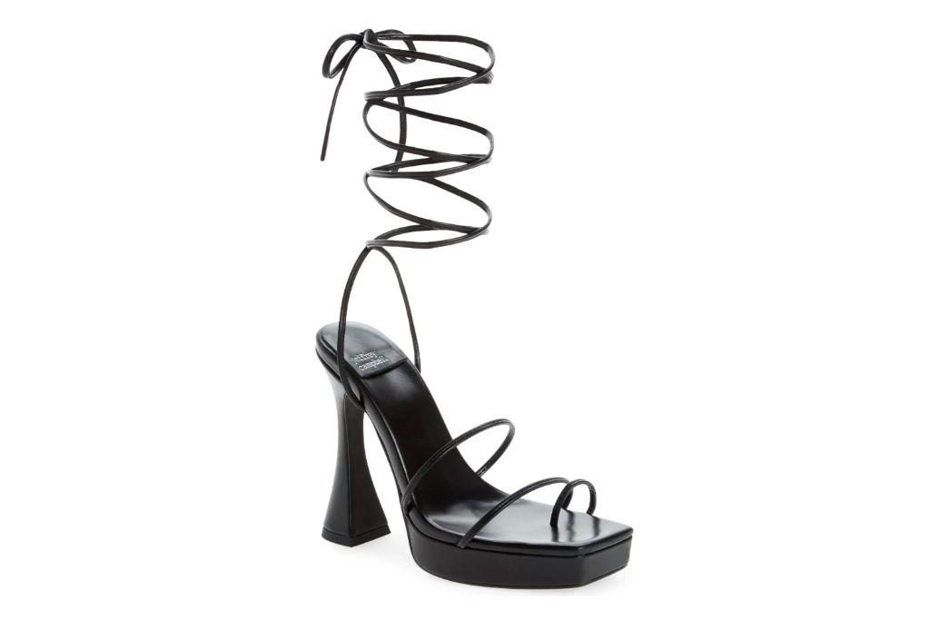 Jeffrey campbell, prima dona sandal, black strappy heels