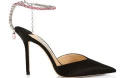 jimmy choo, heels, black, crystals