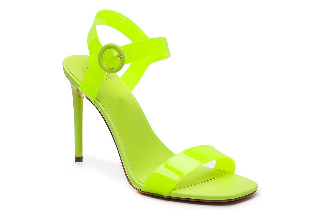 yellow heels, sandals, jlo