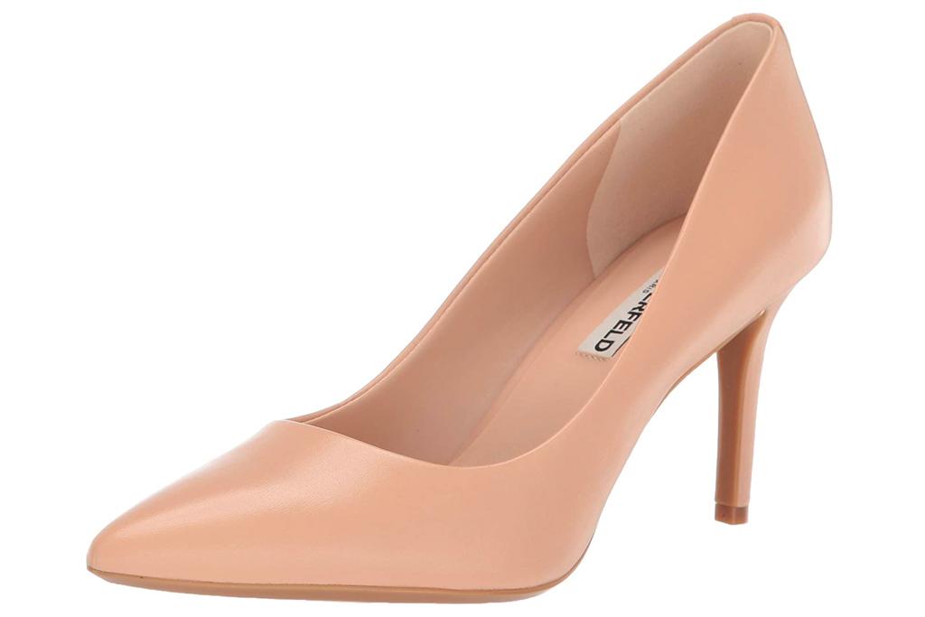 nude heels, pumps, karl lagerfeld