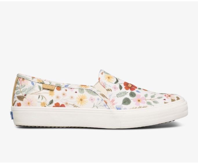 KedsxRifles Paper Co. Double Decker Strawberry Fields, best slip-on sneakers for women