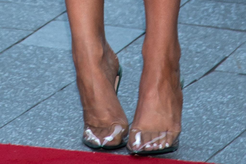 kylie jenner, bustier, dress, heels, see-through, travis scott, date, stormi webster, sneakers, shoes, new york, red carpet