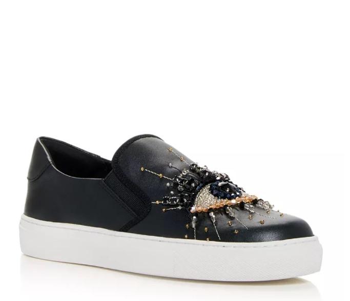 Kurt Geiger London Leah Embellished Slip On Sneaker, best slip-on sneakers for women