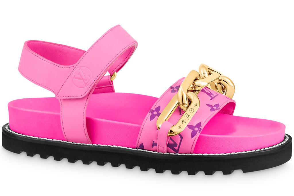 louis vuitton, sandals, pink