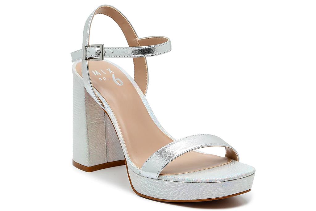 silver heels, platform, sandals, mix no 6