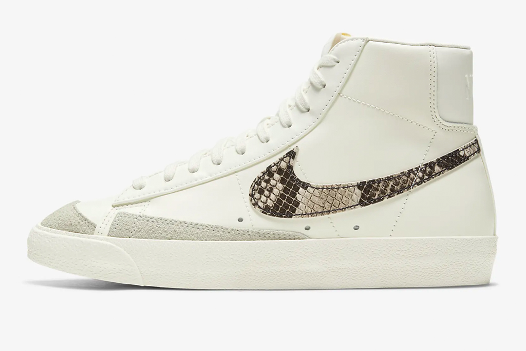 snakeskin sneakers, python, nike