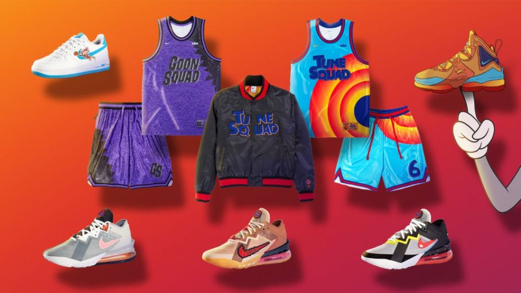 nike, converse, space jam, a new legacy, sneakers, jacket, basketball jresey, shorts, backpack, shorts, t-shirt