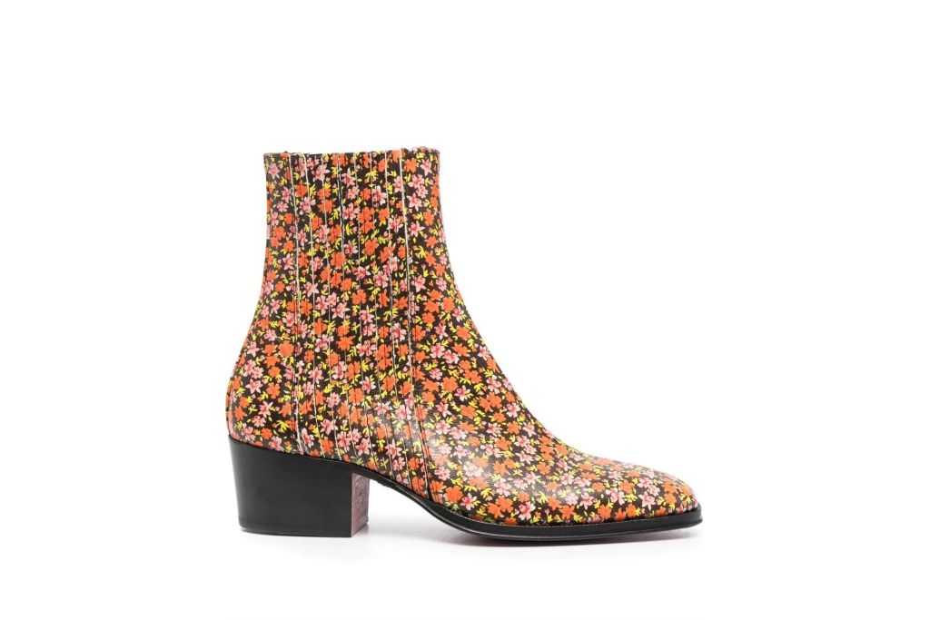 paul smith, floral ankle boots, floral boots