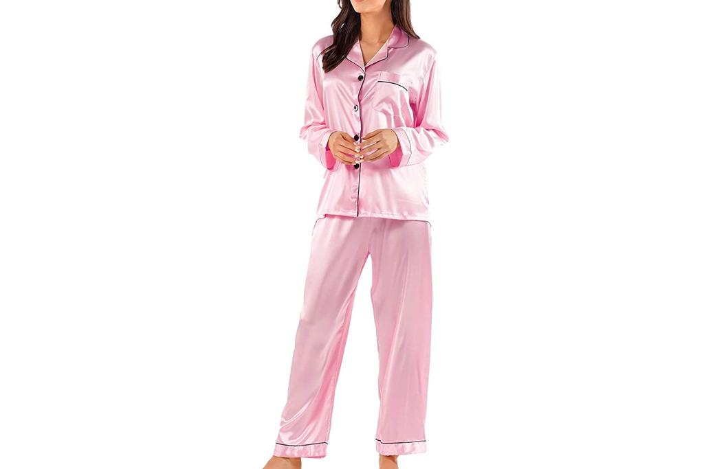 pajamas, amazon, pink