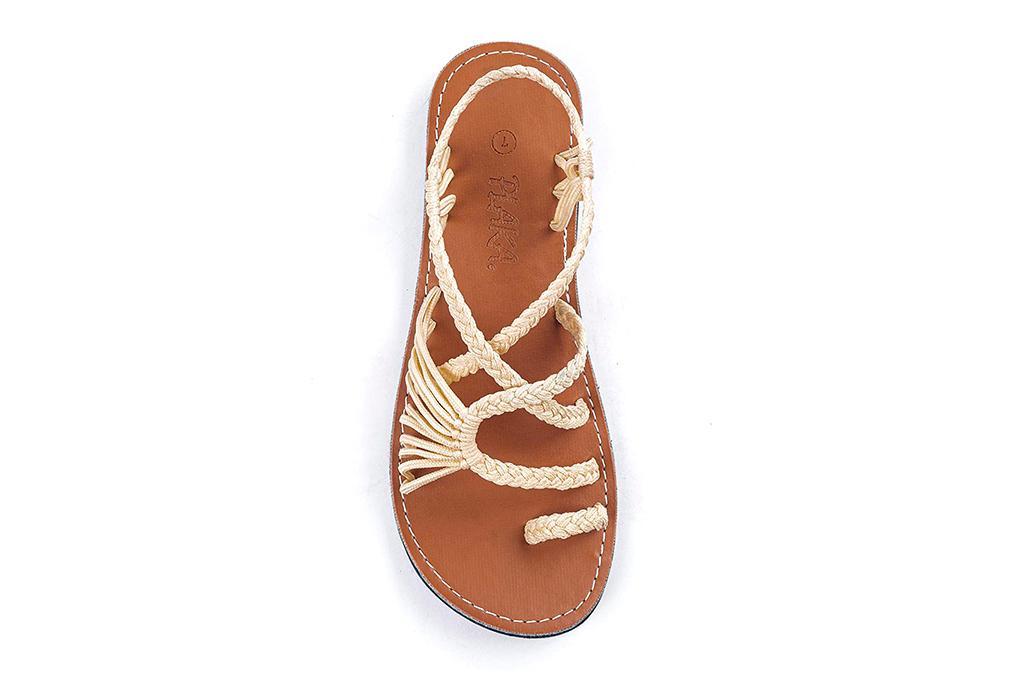 Plaka Flat Sandals for Women Palm Leaf, amazon prime day