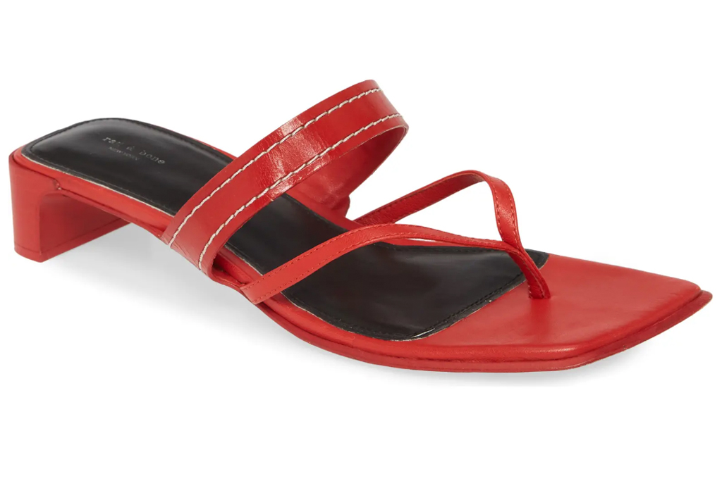 red heels, mules, rag and bone