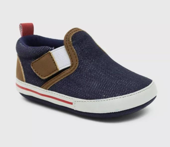 Ro+Me by Robeez Baby Boys' Denim Canvas Sneakers, best baby boy Target sneakers