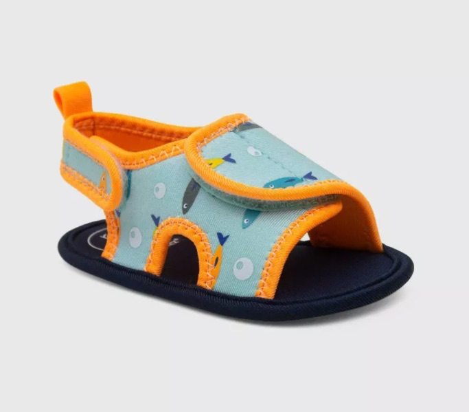 Ro+Me by Robeez Baby Boys' Fish Ankle Strap Sandals, best baby boy Target shoes