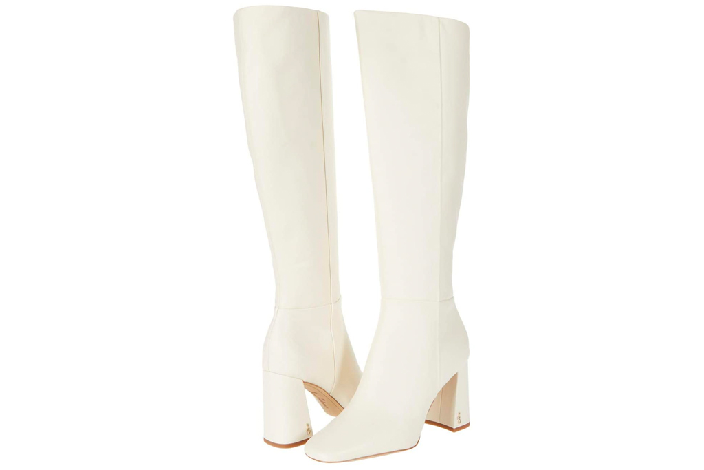 white boots, sam edelman