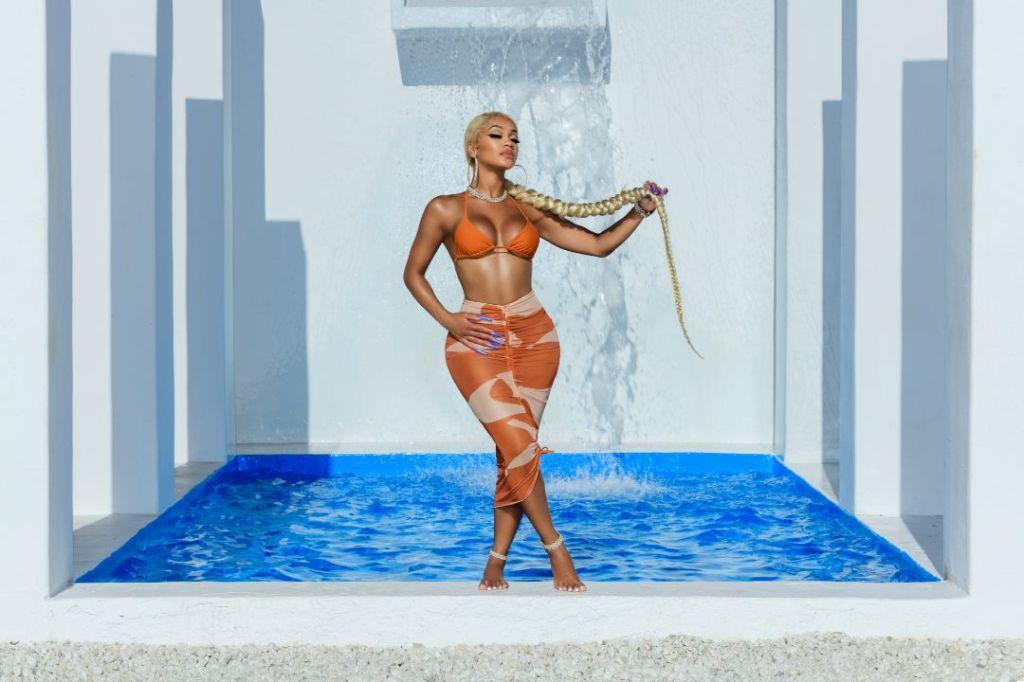 saweetie, bikini, bathing suit, skirt, mesh, dress, sarong, swimwear, matte collection