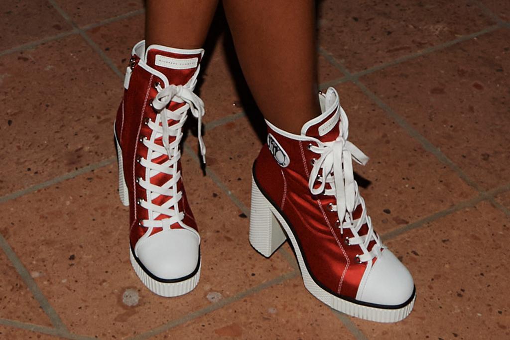 saweetie, dress, cutout dress, minidress, rhude, show, platform boots, shoes, sneakers, sunglasses