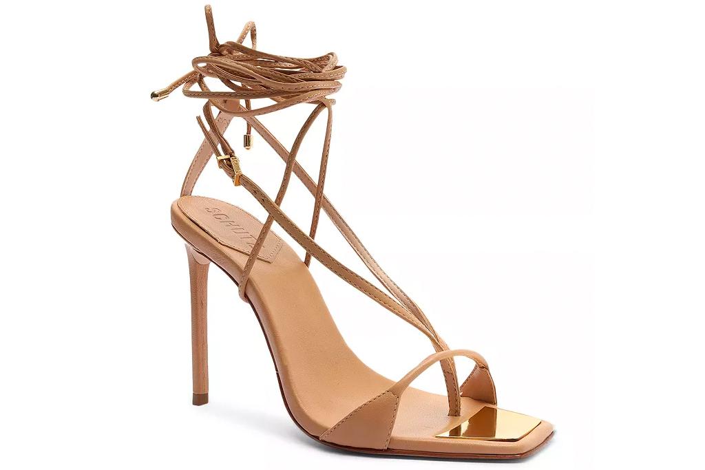 brown heels, strappy, schutz
