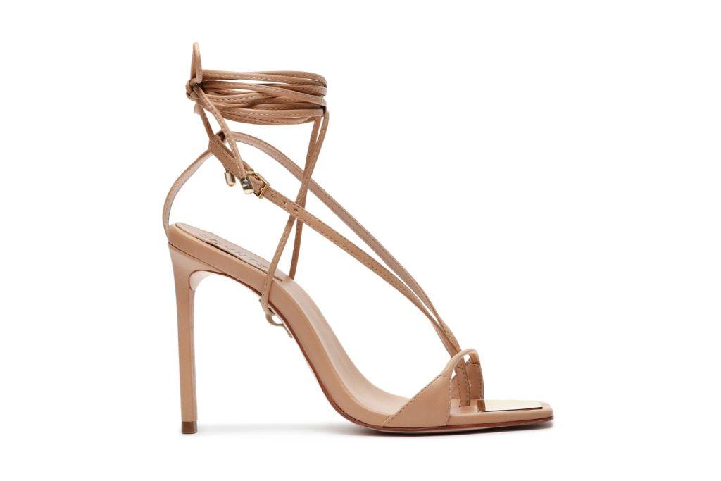 schutz, vikki sandals, strappy nude sandals