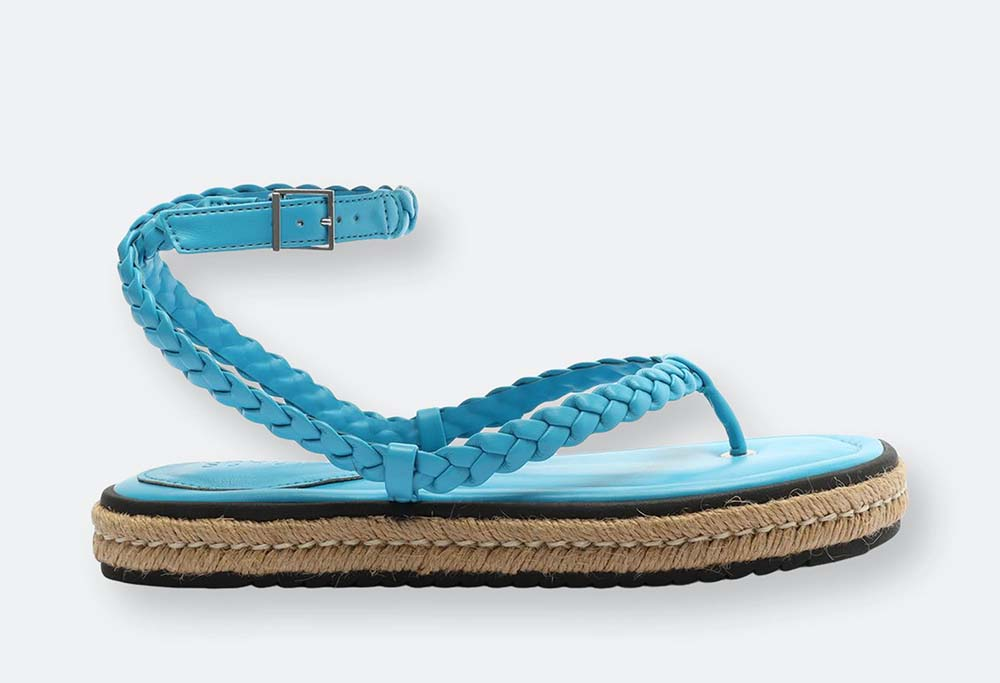 Mayna Leather and Jute Espadrille