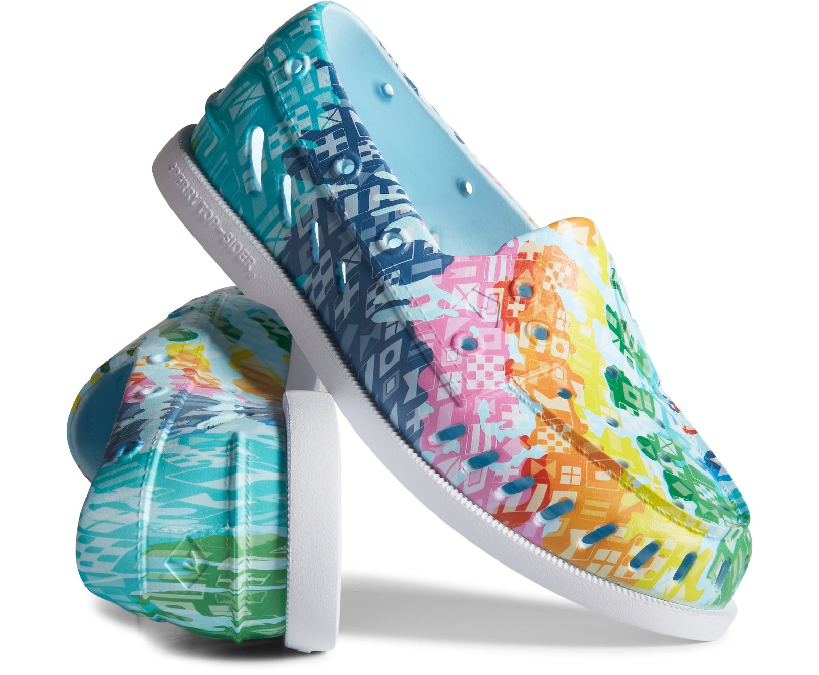 sperry, pride, boat shoe, rainbow, lgbtq, 2021