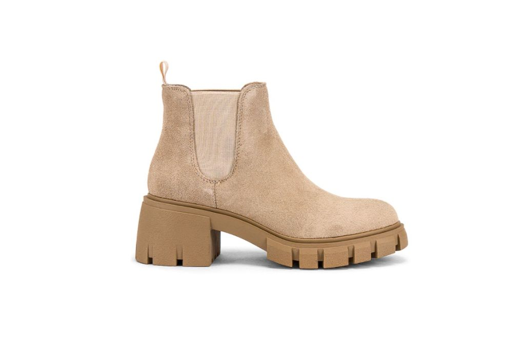 steve madden, howler boot, tan lug sole boots