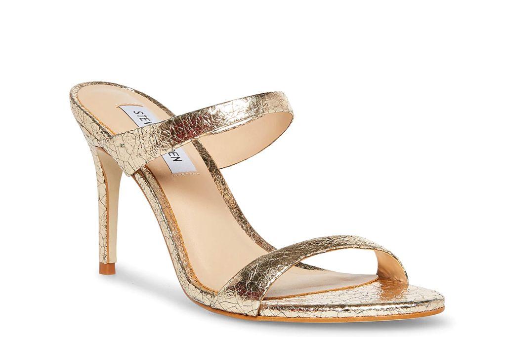 steve madden, rosalina sandal, gold heels
