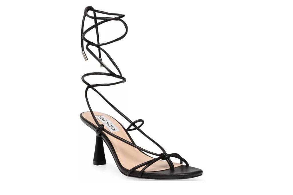 steve madden, superb tie up sandals, strappy sandals