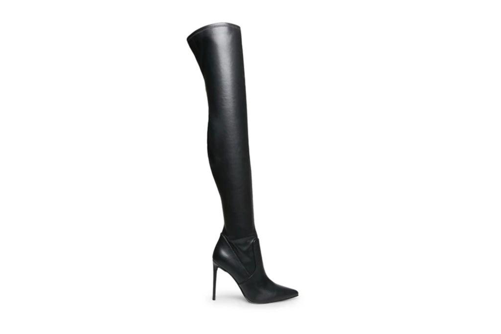 steve madden, over the knee boot, black boot