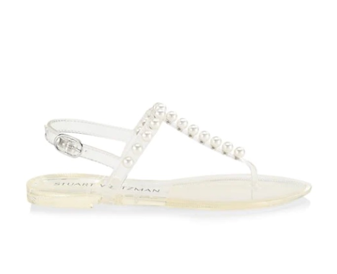 Stuart Weitzman Goldie Jelly Sandals, best jelly shoes and sandals