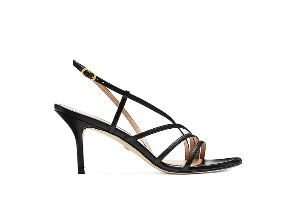 stuart weitzman, melodie sandal, black strappy sandals