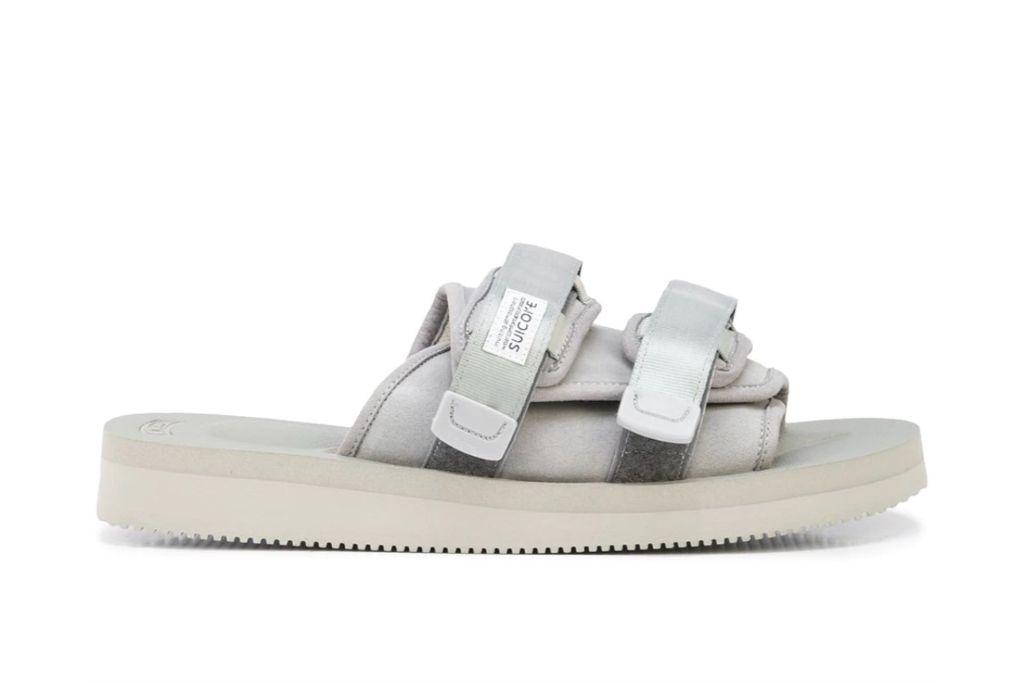 suicoke, strap sandals, gray sandals