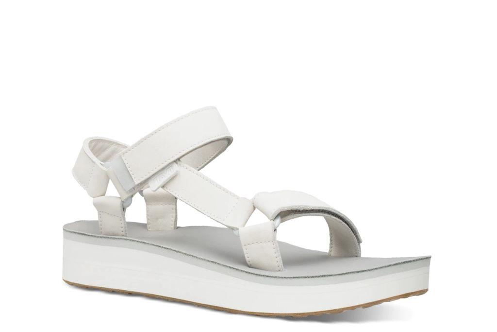 teva, platform sandal, gray sandals