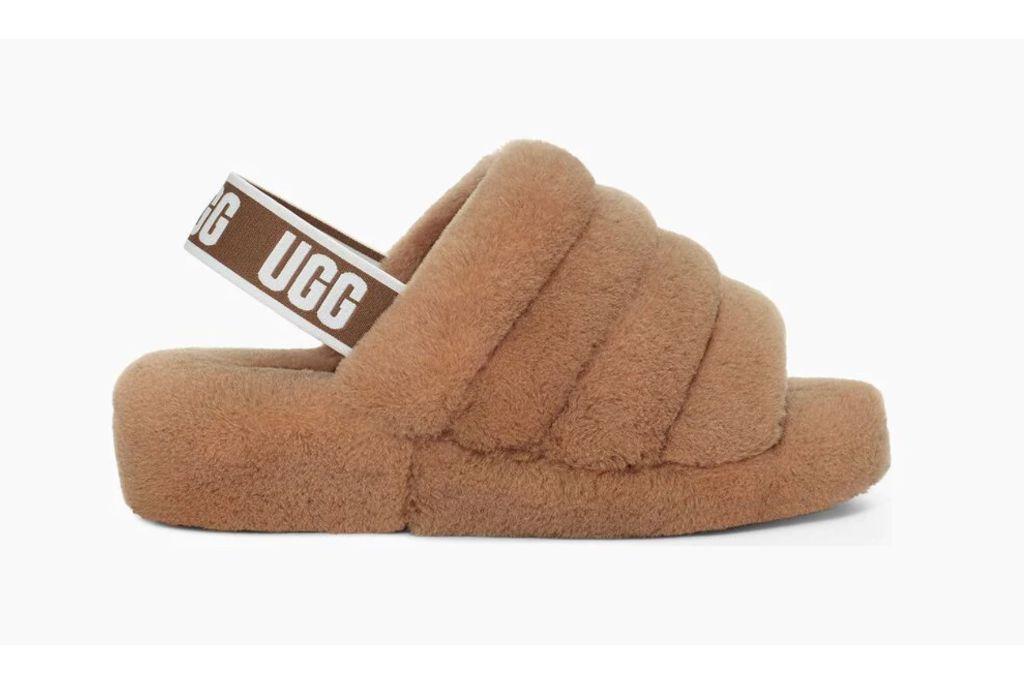 ugg, fluff yeah slide, brown sandals