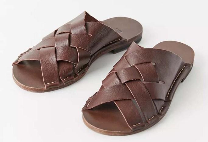 Punto Pigro Woven Leather Slide Sandal