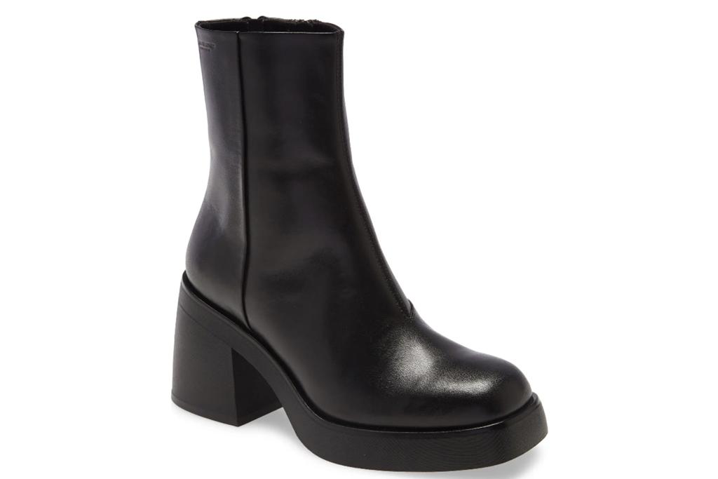 platform boots, black, vagabond