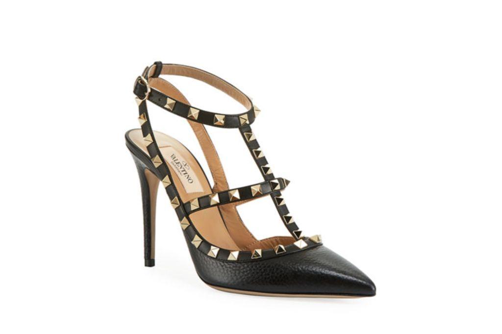 valentino, rockstud pumps, studded heels