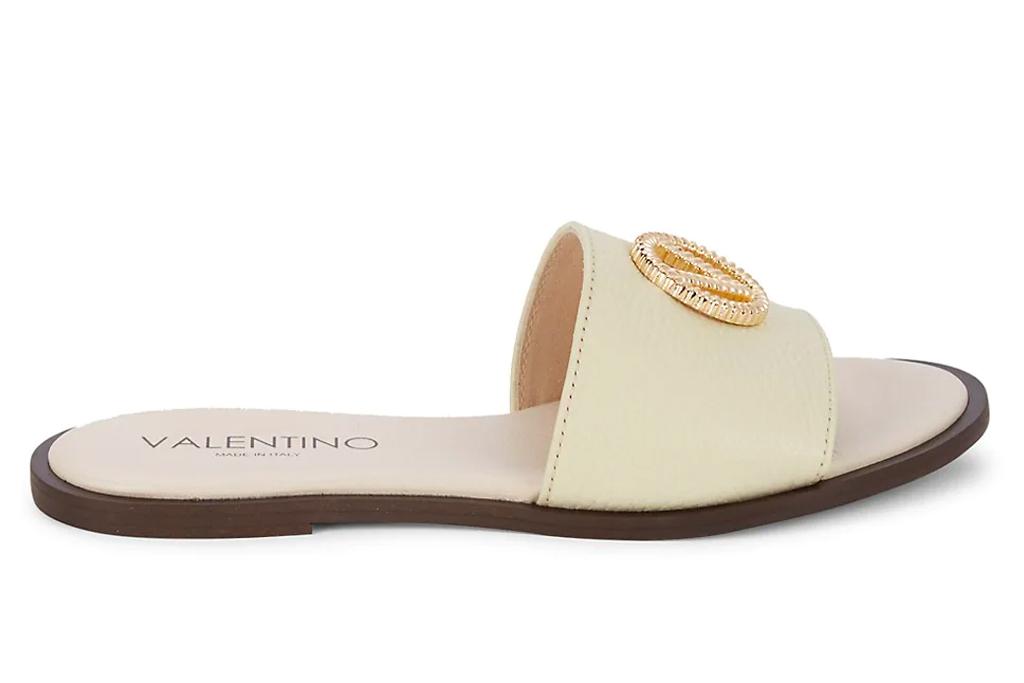 slides, sandals, logo, valentino