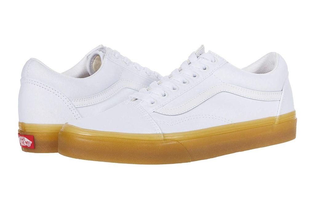 vans, old skool, white sneakers