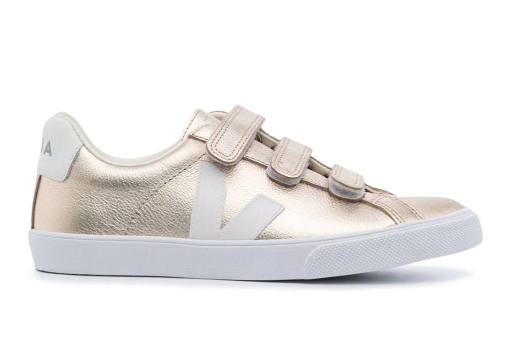 veja, metallic sneakers