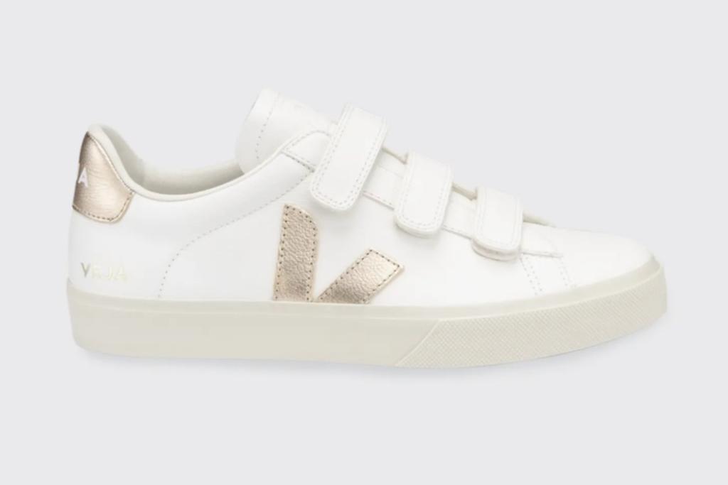 veja, recife, bicolor sneaker, metallic sneakers