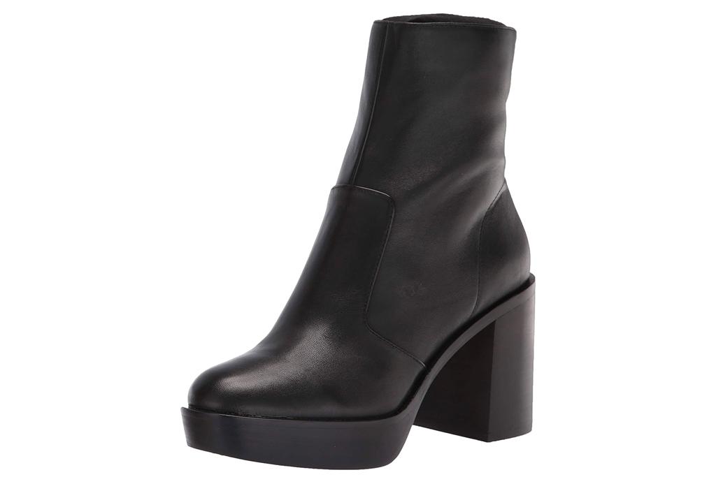 platform boots, black, vince camuto