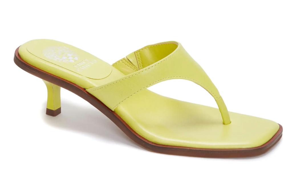 yellow heels, sandals, vince camuto