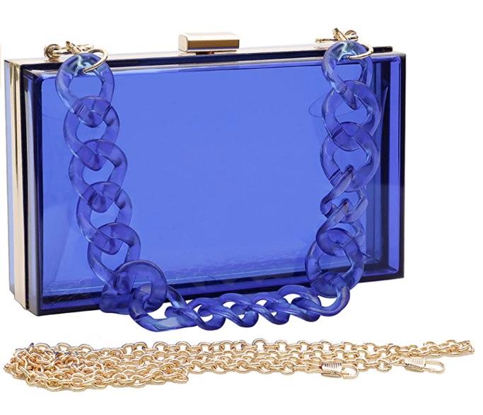 Women Acrylic Transparent Gold star Evening Bags Purses Clutch Vintage Banquet Handbag, best Amazon Prime Days handbag deals