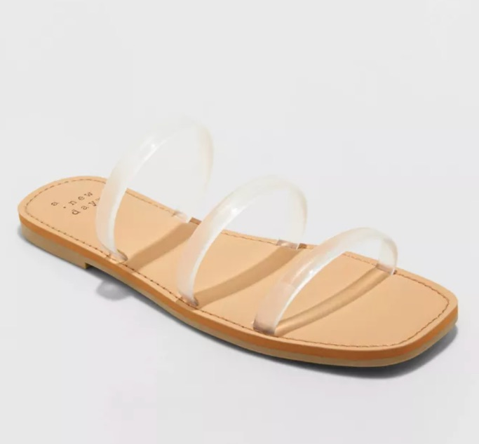 A New Day Wren Triple Strap Sandal, best jelly shoes and sandals