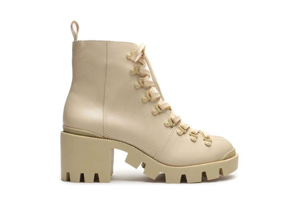 schutz, xayane bootie, tan lug boots