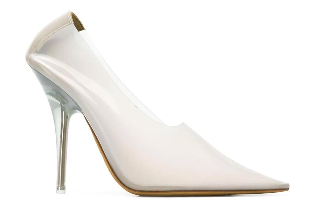 clear heels, pumps, yeezy