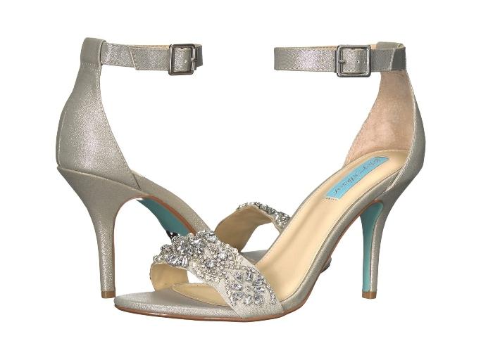 Blue by Betsey Johnson Gina Sandal, affordable wedding heels